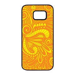 Pop Sunny Samsung Galaxy S7 Edge Black Seamless Case by ArtByAmyMinori