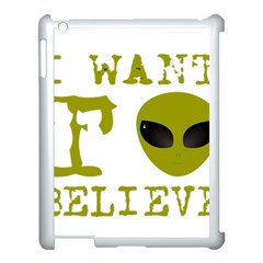 I Want To Believe Apple Ipad 3/4 Case (white)