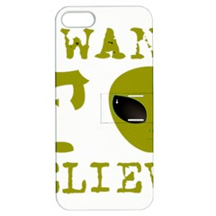 I Want To Believe Apple Iphone 5 Hardshell Case With Stand