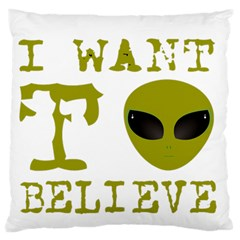 I Want To Believe Large Flano Cushion Case (two Sides)