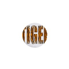 Tiger Bstract Animal Art Pattern Skin 1  Mini Buttons