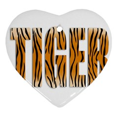Tiger Bstract Animal Art Pattern Skin Ornament (heart) by Samandel