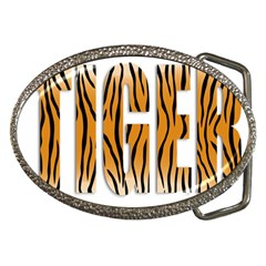 Tiger Bstract Animal Art Pattern Skin Belt Buckles