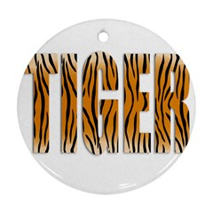 Tiger Bstract Animal Art Pattern Skin Round Ornament (two Sides)
