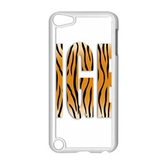 Tiger Bstract Animal Art Pattern Skin Apple Ipod Touch 5 Case (white)