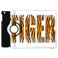 Tiger Bstract Animal Art Pattern Skin Apple Ipad Mini Flip 360 Case