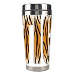 Tiger Bstract Animal Art Pattern Skin Stainless Steel Travel Tumblers Left