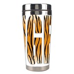 Tiger Bstract Animal Art Pattern Skin Stainless Steel Travel Tumblers Center
