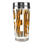 Tiger Bstract Animal Art Pattern Skin Stainless Steel Travel Tumblers Right