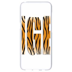 Tiger Bstract Animal Art Pattern Skin Samsung Galaxy S8 White Seamless Case