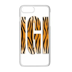 Tiger Bstract Animal Art Pattern Skin Apple Iphone 8 Plus Seamless Case (white)