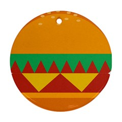 Burger Bread Food Cheese Vegetable Ornament (round)