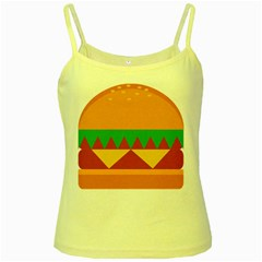 Burger Bread Food Cheese Vegetable Yellow Spaghetti Tank