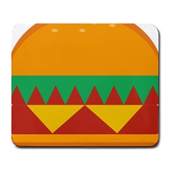 Burger Bread Food Cheese Vegetable Large Mousepads by Samandel