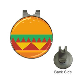 Burger Bread Food Cheese Vegetable Hat Clips With Golf Markers by Samandel