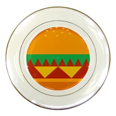 Burger Bread Food Cheese Vegetable Porcelain Plates by Samandel