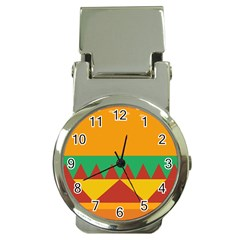 Burger Bread Food Cheese Vegetable Money Clip Watches