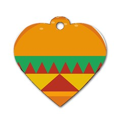 Burger Bread Food Cheese Vegetable Dog Tag Heart (two Sides) by Samandel