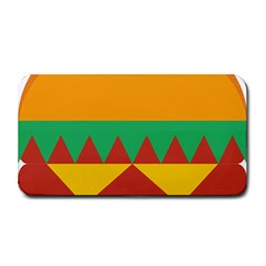 Burger Bread Food Cheese Vegetable Medium Bar Mats by Samandel