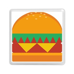 Burger Bread Food Cheese Vegetable Memory Card Reader (square) by Samandel