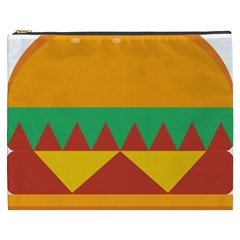 Burger Bread Food Cheese Vegetable Cosmetic Bag (xxxl) by Samandel
