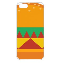 Burger Bread Food Cheese Vegetable Apple Iphone 5 Seamless Case (white) by Samandel
