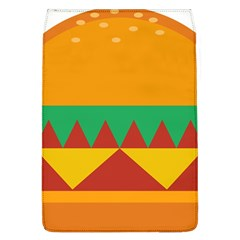 Burger Bread Food Cheese Vegetable Removable Flap Cover (l)