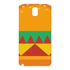 Burger Bread Food Cheese Vegetable Samsung Galaxy Note 3 N9005 Hardshell Back Case by Samandel