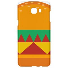 Burger Bread Food Cheese Vegetable Samsung C9 Pro Hardshell Case