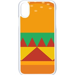 Burger Bread Food Cheese Vegetable Apple Iphone X Seamless Case (white)