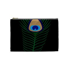 Peacock Feather Cosmetic Bag (medium)