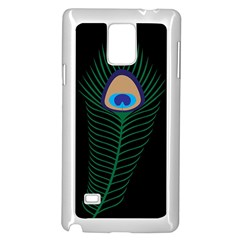 Peacock Feather Samsung Galaxy Note 4 Case (white)
