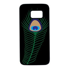 Peacock Feather Samsung Galaxy S7 Black Seamless Case