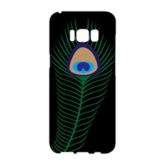 Peacock Feather Samsung Galaxy S8 Hardshell Case