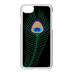 Peacock Feather Apple Iphone 8 Seamless Case (white)