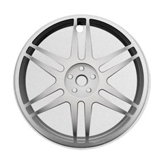 Wheel Skin Cover Round Ornament (two Sides)
