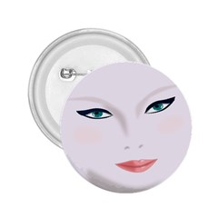 Face Beauty Woman Young Skin 2 25  Buttons