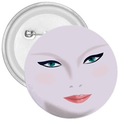 Face Beauty Woman Young Skin 3  Buttons by Samandel