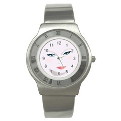 Face Beauty Woman Young Skin Stainless Steel Watch by Samandel