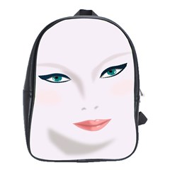 Face Beauty Woman Young Skin School Bag (large) by Samandel