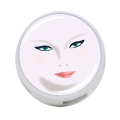 Face Beauty Woman Young Skin 4 Port Usb Hub (one Side)