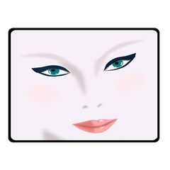 Face Beauty Woman Young Skin Fleece Blanket (small)
