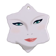 Face Beauty Woman Young Skin Snowflake Ornament (two Sides)