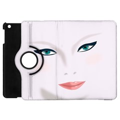 Face Beauty Woman Young Skin Apple Ipad Mini Flip 360 Case