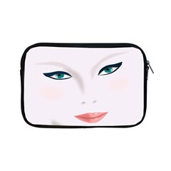 Face Beauty Woman Young Skin Apple Ipad Mini Zipper Cases by Samandel