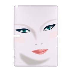 Face Beauty Woman Young Skin Samsung Galaxy Note 10 1 (p600) Hardshell Case