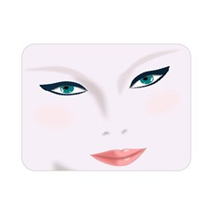 Face Beauty Woman Young Skin Double Sided Flano Blanket (mini)