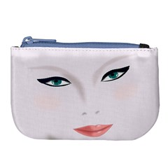 Face Beauty Woman Young Skin Large Coin Purse