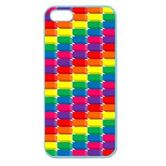 Rainbow 3d Cubes Red Orange Apple Seamless Iphone 5 Case (color)