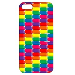 Rainbow 3d Cubes Red Orange Apple Iphone 5 Hardshell Case With Stand